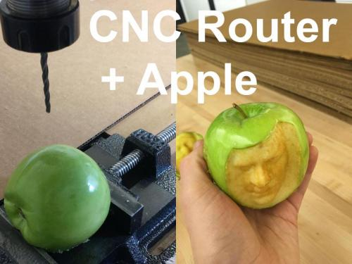 CNC Router + Apples